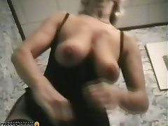 Big Boobs, Blonde, Granny, Mature, Stockings