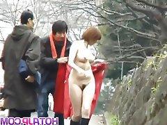 Asian, Japanese, Masturbation, Outdoor