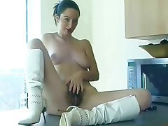 British, Brunette, Hairy, Masturbation