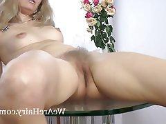 Blonde, Hairy, Masturbation, Mature