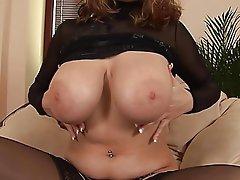 Big Boobs, Masturbation, Stockings