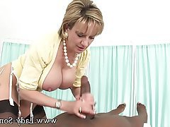 British, Mature, Handjob, Massage