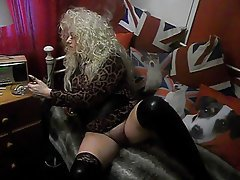 British, Blonde, Blowjob, MILF