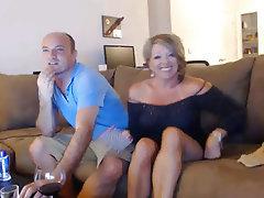 British, Mature, Webcam, Couple