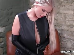 Big Boobs, Blonde, British, Latex, Masturbation