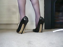 British, Foot Fetish, High Heels, Latex