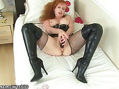 Mature, MILF, British, Pantyhose, Mature