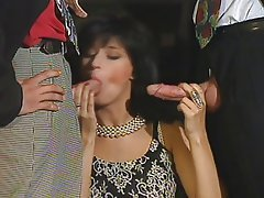 Brunette, Double Penetration, Facial, French, Threesome