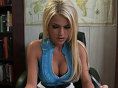 Blonde, Office, Big Cock, Hardcore