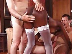 Cumshot, Group Sex, Interracial, Threesome