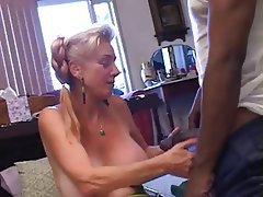 Blowjob, Creampie, Interracial, Mature