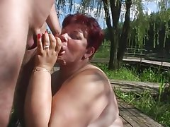 BBW, Mature, Old and Young, Outdoor