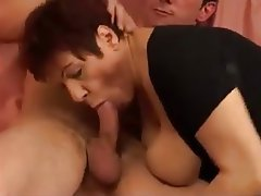 Big Boobs, Cumshot, French, Mature