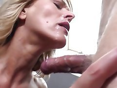Blonde, Facial, Mature, Old and Young