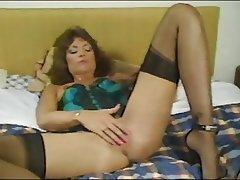 Lingerie, Masturbation, MILF, Stockings, Vintage