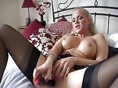 Femdom, Masturbation, Stockings