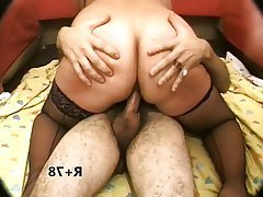BBW, Double Penetration, Mature, MILF, Stockings