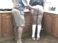British, MILF, Stockings